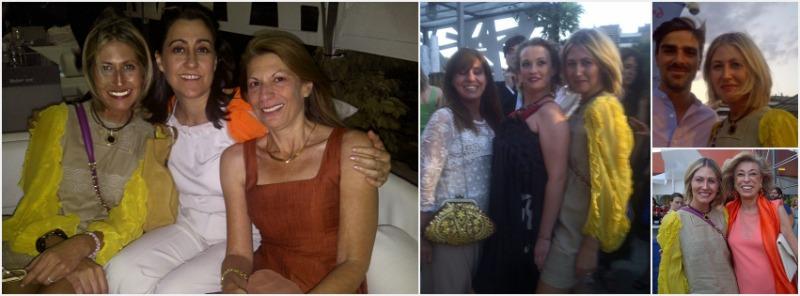 Con Isabel y Mónica, con Almu y Tessa, con Melocos y con Toya en la Gala Bazar Me Lo Pido