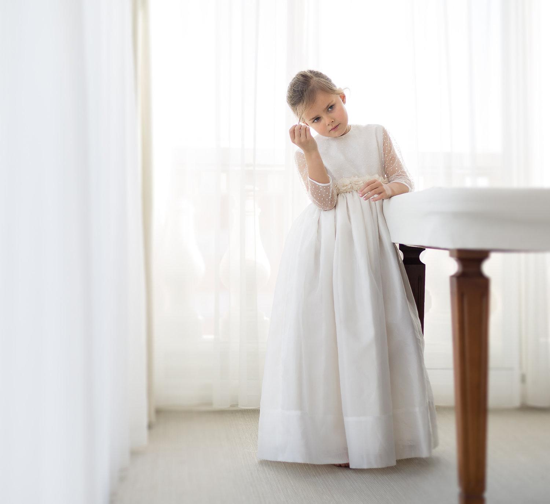 Vestido de Comunión MIMOSA beige