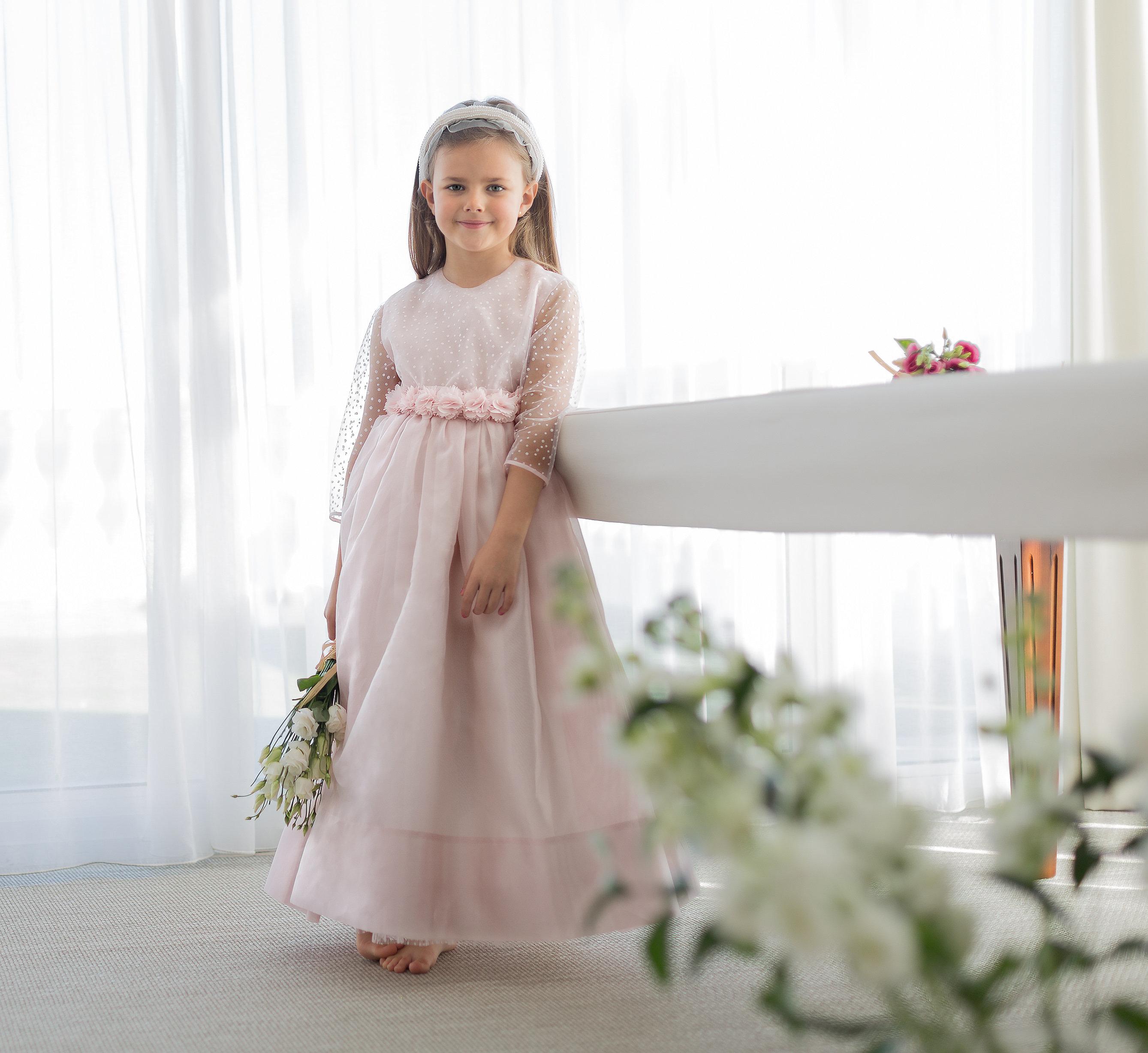 Vestido de Comunión MIMOSA rosa